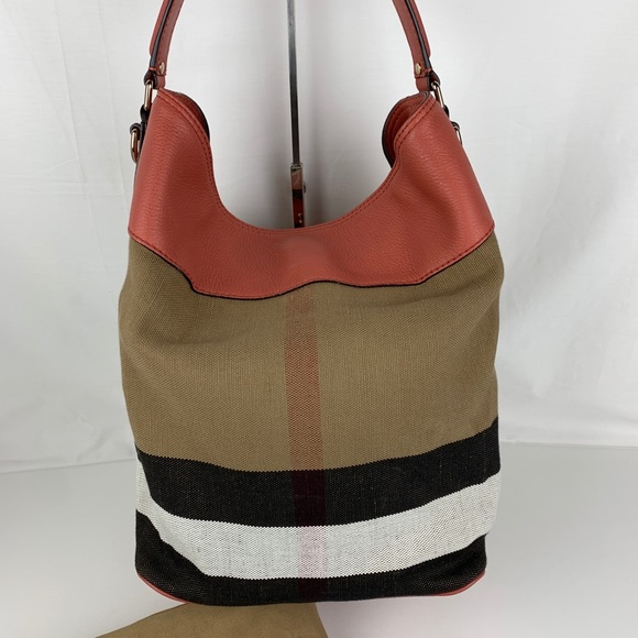 Burberry Handbags - New Burberry Brit Grainy Ashby Check Tote Bag 7f668b1da17db